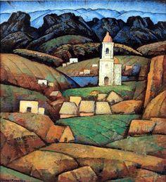 Ramos Martinez, Alfredo (1871-1946) - The Chapel (Private Collection), via Flickr.