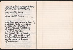"Jim Morrison, Paris Journal, written shortly before his death in July 1971. Via reccordmecca """"The entire notebook consists of one angry, reflective and defiant poem. As there are only three places in..."