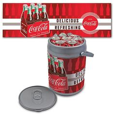 "Coca-Cola Picnic Time Can-Shaped ""Delicious"" Cooler"
