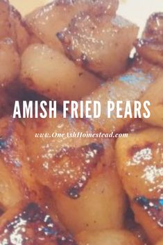 Amish Fried Pears This popular post is a true taste of fall! We hope you enjoy! What is it about these early, rainy, Autumn days that makes me want to get in the kitchen and try something new? Pear Dessert Recipes, Fruit Recipes, Just Desserts, Fall Recipes, Recipes With Pears, Fresh Pear Recipes, Blender Recipes, Desert Recipes, Yummy Recipes