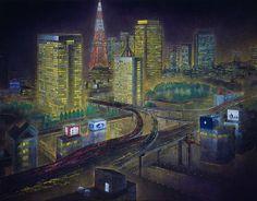 ライト アツプ  /  116.7 × 91cm (セントラル美術館日本画大賞展 1990)