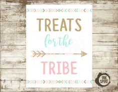 PRINTABLE Wild One Birthday Sign Treats for the by beINKspired