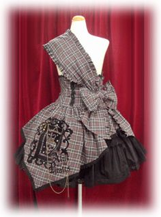 https://flic.kr/p/7D8GYL | AATP Edward Skull Skirt | Name: エドワードスカル・スカート Item No: 104P513 Year: 2008 Colourway: Gray Tartan (Also known as the Highlander!)