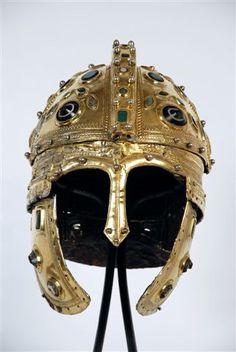 Golden Roman Helmet, found near the remains of Sirmium (Sremska Mitrovica in Serbia). Probably from around 14BC - 1st Century AD.