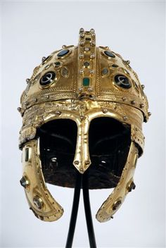 Golden Roman Helmet, found near the remains of Sirmium (Sremska Mitrovica in Serbia).  Probably from around 14BC - 1st Century AD.