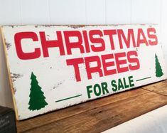 "Farmhouse Style Joanna Gaines 18.5"" x 48"" Christmas Trees For Sale Wood Sign Wall Decor Fixer Upper Decor Christmas Gift For Her"