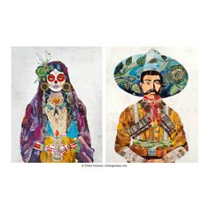 Latino Heritage / Mexican Art style Señor and by dolangeiman, $189.00