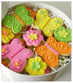 butterfly - flower sugar cookies
