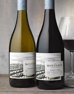CF Napa Brand Design - The Monterey Vineyard Wine Packaging Design & Logo Cabernet Sauvignon, Sauvignon Blanc, Wine Bottle Design, Wine Label Design, Wine Bottle Labels, Chenin Blanc, Pinot Noir, Jouer Au Poker, Barolo Wine