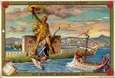 Колосс Родосский. В море, писал Фил Византийский, лежит остров Родос, где солнце облачается в свет. Здесь, по свидетельствам древних писцов когда — то стоял Колосс (греч. kolossos — большая статуя). Второе солнце встречалось лицом к лицу с первым.
