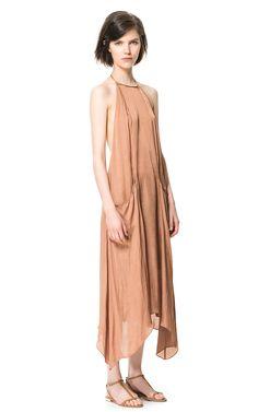 LONG DRESS WITH POCKETS - Dresses - Woman   ZARA United States