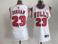 Bulls #23 Michael Jordan White Women's Home Embroidered NBA Jersey! Only $17.50USD