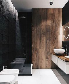 Top Amazing Black Modern Bathroom Interior Design Secrets RoomSketcher Home Designer is stuffed with loads of great features to fulfill your house des. Modern Bathrooms Interior, Modern Bathroom Design, Bathroom Interior Design, Home Interior, Interior Decorating, Interior Modern, Luxury Interior, Home Decor Instagram, Diy Bathroom