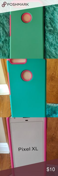 NEW - NEVER USED-Phone Case Google Pixel XL NEW NEVER USED Google Pixel XL Cell Phone Case.  Super cute color combination on this case.  This is a sturdy rubber case that fits snugly and safely.  I have one of these cases that I switch with my other phone case.  It stands up well to everyday use.  Good quality protection. Google Pixel XL Accessories Phone Cases