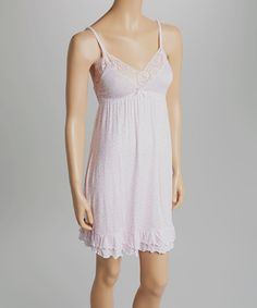 Look at this #zulilyfind! White Ground Floral Chemise - Women by René Rofé #zulilyfinds