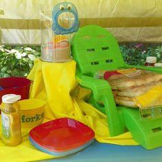 Beach/ pool party theme food table