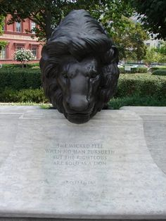 Photos of the National Law Enforcement Officers Memorial: Another Lion Sculpture
