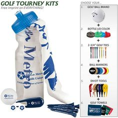 Promotional Basic Cart Caddie Golf Tournament Kit  #golf #promoproducts #advertising| Customized Golf Gift Kits