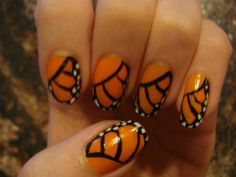 spring [monarch] nails :)  @Kay Rollins - This is totally you!