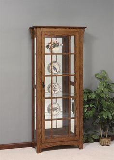 Amish Mission Curio Cabinet
