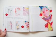 creating a new photobook style for them, one that could be used to showcase children's artwork