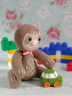PATTERN - Crochet toy sloth, amigurumi toys, pdf, tutorial, animal pattern, exotic beast, plush sloth, toy props for a baby photo shoot Amigurumi Toys, Crochet Patterns Amigurumi, Crochet Toys, Knitting Toys, Knitting Ideas, Knitting Projects, Handmade Toys, Handmade Crafts, Handmade Ideas