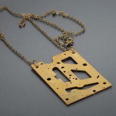 Steampunk Necklace Brass Upcycled Rectangle Clock Part by  Tanith on Etsy  $28.00