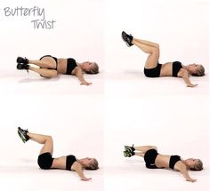 Butterfly twist - such a good exercise for waist. (Just a picture.)