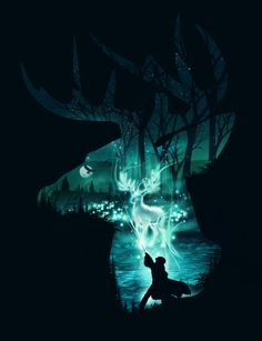 Pop Culture Negative Space Illustrations: Harry Potter - Dan Elijah