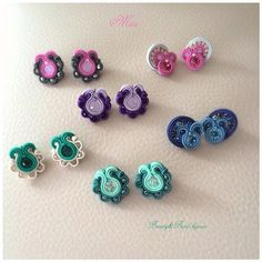 Thread Jewellery, Fabric Jewelry, Boho Jewelry, Jewelery, Fashion Jewelry, Gold Bridal Earrings, Diy Earrings, Earrings Handmade, Stud Earrings