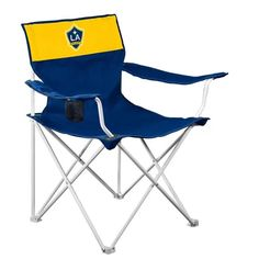 LA Galaxy Official MLS 22 inch Seat Fold Out Tailgate Chair by Logo - Walmart.com