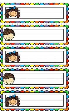 Badges for Kindergarten Children - Preschool Children Akctivitiys Classroom Labels, Classroom Rules, Classroom Organization, Classroom Decor, School Border, School Frame, School Labels, School Clipart, Borders And Frames