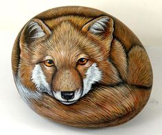 Rock Painting - fox