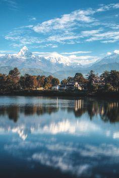 Unreal. Mt. Fishtail, Nepal | bishow joshi  pokhara (via wnderlst)