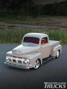 Chevy trucks aficionados are not just after the newer trucks built by Chevrolet. They are also into oldies but goodies trucks that have been magnificently preserved for long years. Old Ford Trucks, Old Pickup Trucks, Hot Rod Trucks, Cool Trucks, Cool Cars, Lifted Trucks, Diesel Trucks, 1951 Ford Truck, Toyota Trucks