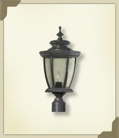 Quorum 7806-45 Baltic Post Lantern, Baltic Granite Finish by Quorum. $75.00. 7806-45 Features: -One light post lantern.-Clear taper water glass.-Lamp post and post adapter are optional.-UL listed for wet location. Options: -Post adapter available in several finishes. Color/Finish: -Baltic granite finish.-Lamp post has gloss black finish. Specifications: -Accommodates (1) 100W medium base bulb (not included). Dimensions: -Overall Post Lantern Dimensions: 19.5'' H x 9.5'' W.-O...