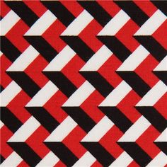 red-white-black 3D pattern fabric with by Robert Kaufman USA