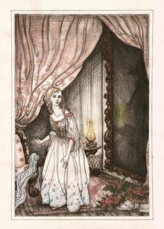 Illustration to the novel by Gaston Leroux's Phantom of the Opera