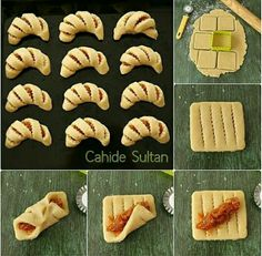 56 Gorgeous from Each Other of Homemade Pastries, Easy Food Decorations - Delicious Food Kids Pastry Recipes, Cookie Recipes, Dessert Recipes, Bread Recipes, Bread Shaping, Homemade Pastries, Bread And Pastries, Arabic Food, Creative Food