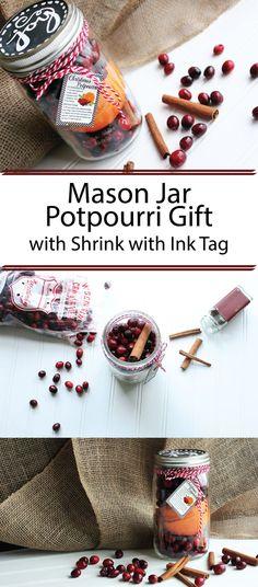 Create this adorable, last minute mason jar potpourri gift in minutes!