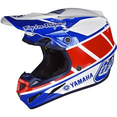 Troy Lee Designs SE4 RS1 Composite Helmet - Yamaha Blue