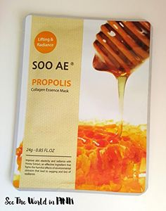 SOO AE Propolis Collagen Essence Honey Mask Skincare * Check out this great product. (Note:Amazon affiliate link)