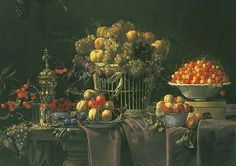 François Habert  Still Life with Fruit  1650