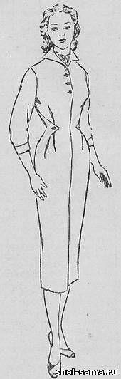 Платье с подрезным клапаном от бокового шва - Сто фасонов женского платья - Всё о шитье