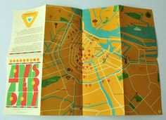 """The Supertime Amsterdam guide promises to be """"a guide to the usual and unusual"""" and folds out to reveal a simple graphic map of the Dutch capital on one side with numbered locations"""