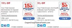 Meijer Shoppers! HURRY clip 15% off General Merchandise AND 5% off Total Grocery, Heath & Beauty mPerk Coupons!
