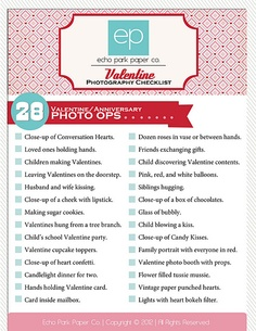 Download this along with Rebecca Coopers lists and keep in PL binder for photo op ideas for each season.