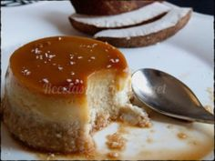 flan de coco Latin Food, Muffin, Gluten Free, Pudding, Lunch, Bread, Cooking, Desserts, Chocolate