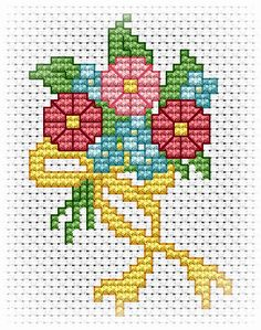 """EMS Designs for Beginners """"First Bouquet Project"""" 3 pages 123 Cross Stitch, Cross Stitch Tree, Cross Stitch Needles, Cross Stitch Cards, Beaded Cross Stitch, Cross Stitch Flowers, Cross Stitch Designs, Cross Stitching, Cross Stitch Embroidery"""