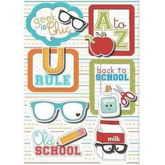 Back To School Sticker Stackers - Geek Is Chic By Imaginisce